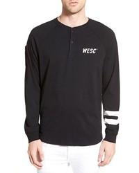 Camiseta henley negra de Wesc