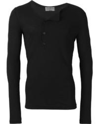 Camiseta henley negra de Yohji Yamamoto