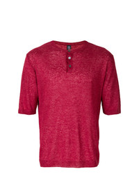 Camiseta henley roja de Eleventy