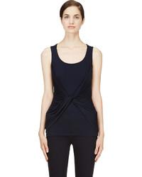 Camiseta sin manga azul marino de Alexander McQueen