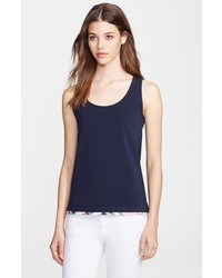 Camiseta sin manga azul marino de Burberry