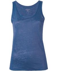 Camiseta sin Manga Azul de Majestic Filatures