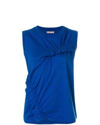 Camiseta sin manga azul de Marni