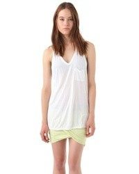 Camiseta sin manga blanca de Alexander Wang