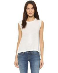 Camiseta sin manga blanca de Diane von Furstenberg