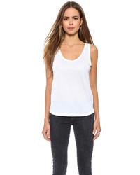 Camiseta sin manga blanca de J Brand