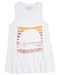 Camiseta sin manga blanca de Original Retro Brand
