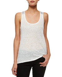 Camiseta sin manga blanca de Paige