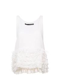 Camiseta sin manga blanca de Thomas Wylde
