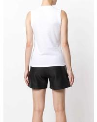 Camiseta sin manga blanca de T by Alexander Wang