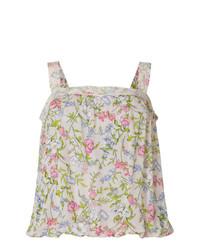 Camiseta sin Manga con print de flores en Beige de Twin-Set