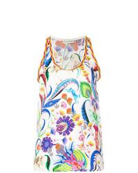 Camiseta sin manga con print de flores en multicolor de Etro