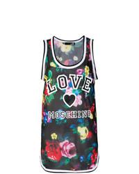 Camiseta sin manga con print de flores en multicolor de Love Moschino