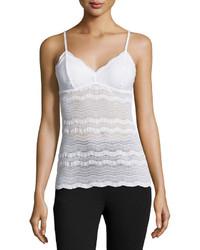 Camiseta sin manga de encaje blanca de Cosabella