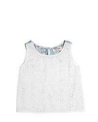 Camiseta sin manga de encaje blanca de Nice Things