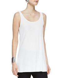 Camiseta sin manga de gasa blanca