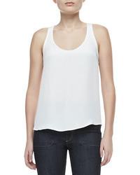 Camiseta sin manga de gasa blanca de Theory