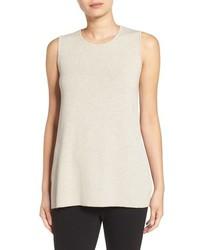 Camiseta sin manga de lana blanca de Eileen Fisher