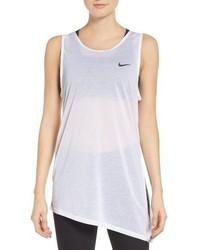 Camiseta sin manga de malla blanca de Nike