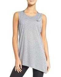 Camiseta sin manga de malla gris de Nike