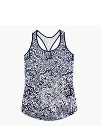Camiseta sin manga de paisley azul marino de New Balance