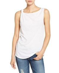 Camiseta sin manga de punto blanca de Splendid