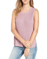 Camiseta sin Manga de Punto Violeta Claro