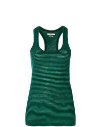 Camiseta sin Manga de Rayas Horizontales Verde de Isabel Marant Etoile