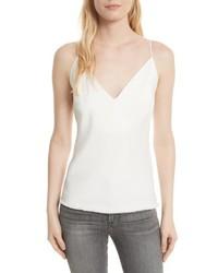 Camiseta sin manga de satén blanca