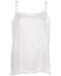 Camiseta sin manga de seda blanca de Dosa