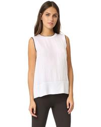 Camiseta sin manga de seda blanca de Rag & Bone