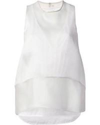 Camiseta sin manga de seda gris de Dondup