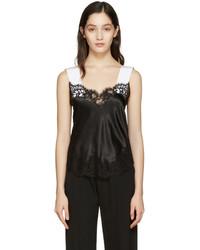 Camiseta sin manga de seda negra de Givenchy