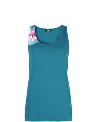 Camiseta sin manga efecto teñido anudado azul de Calvin Klein