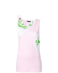 Camiseta sin manga efecto teñido anudado rosada de Calvin Klein 205W39nyc