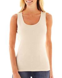 Camiseta sin manga en beige