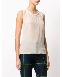 Camiseta sin manga en beige de Twin-Set