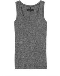 Camiseta sin manga en gris oscuro