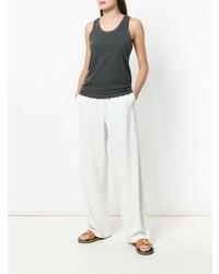 Camiseta sin manga en gris oscuro de Frame Denim