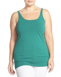 Camiseta sin manga en verde azulado