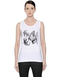Camiseta sin Manga Estampada Blanca de Ann Demeulemeester