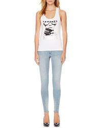 Camiseta sin manga estampada blanca de MICHAEL Michael Kors