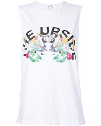 Camiseta sin manga estampada blanca de The Upside
