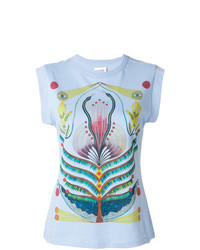 Camiseta sin manga estampada celeste de Chloé