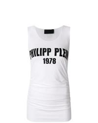 Camiseta sin manga estampada en blanco y negro de Philipp Plein