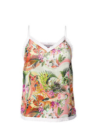 Camiseta sin manga estampada en multicolor de Piccione Piccione
