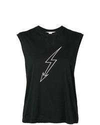 Camiseta sin manga estampada negra de Givenchy