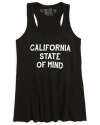Camiseta sin manga estampada negra de Original Retro Brand