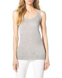 Camiseta sin manga gris de Michael Kors
