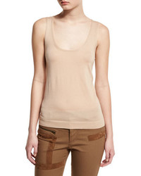 Camiseta sin manga marrón claro de Tom Ford